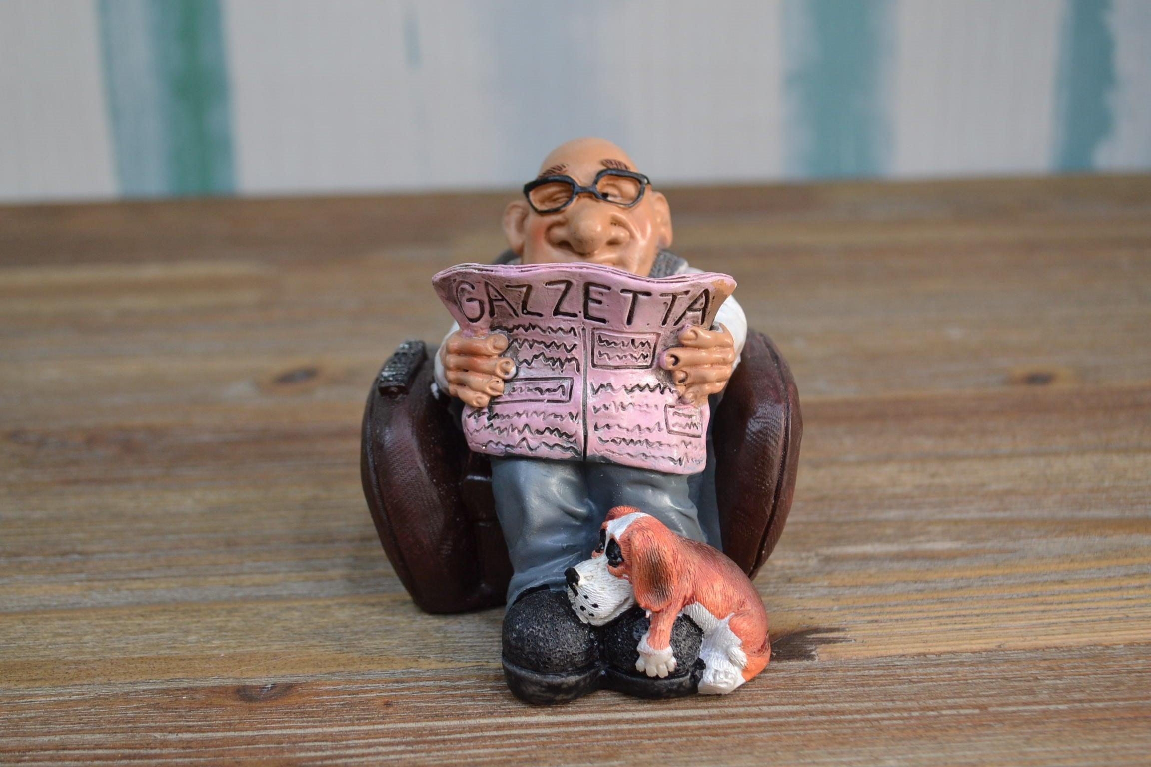 Nonno In Poltrona.Caricatura Di Mestiere Nonno In Poltrona H 9 Art W9901 Smi